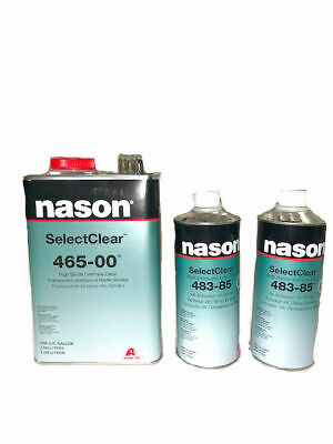 Nason SelectClear 465-00 High Solids Urethane Clear with 2 Activators 483-84/85