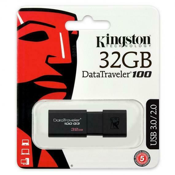 PEN DRIVE USB CHIAVETTA KINGSTON DT100 G3 USB 3.0/3.1 64GB 128GB SUPER PROMO