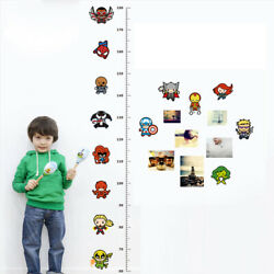 AVENGERS  Height Growth Chart Wall Sticker Kids Room Height Measure Decal new
