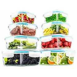 Kyпить 18 Pieces Glass Food Storage Container set with Airtight Lids Utopia Kitchen на еВаy.соm