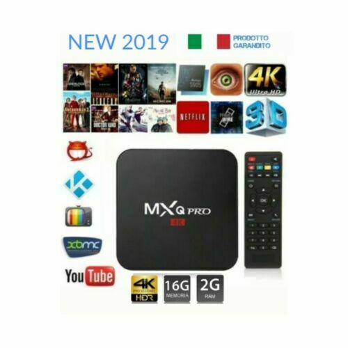 TV BOX ANDROID 9.0 4K FULL HD 1080P 2GB 16GB RAM SMART DECODER WIFI MXQ PRO