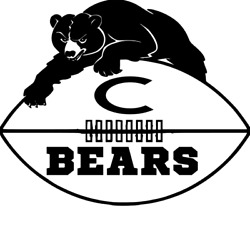 Bears Football Vinly Decal for Car Window, Walls, Computers, Sports, Cup, Tumble