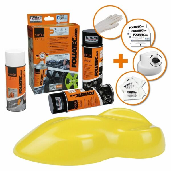 Hambach,FrancePEINTURE JANTE JAUNE BRILLANT KIT SPRAY ELASTIQUE PLASTIFIANT  FT2312