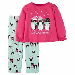 NWT CARTERS Just One You Christmas Polyester Pajamas TOO COOL FOR BED Penguin