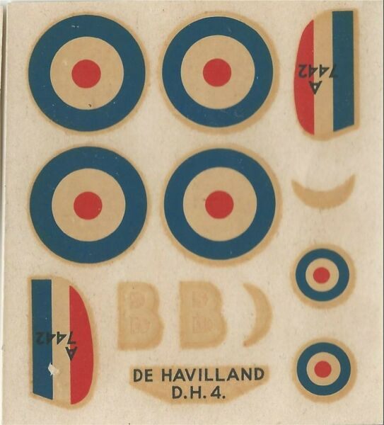 DeHAVILLAND D.H.4 1/72 DECALS DA KIT AIRFIX