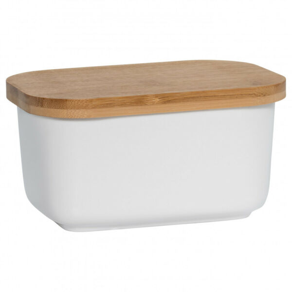 Maxwell & Williams Kitchen Butterdose mit Holzdeckel, Porzellan - Holz, AW0203