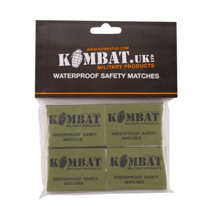 img-NEW KOMBAT UK MILITARY PRODUCTS WATERPROOF SAFETY MATCHES,4 BOXES,SURVIVAL KIT