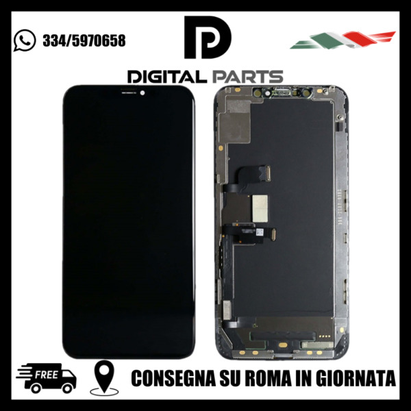 DISPLAY LCD Schermo Vetro Per iPhone XS MAX OLED SOFT / MASSIMA QUALITÁ OLED