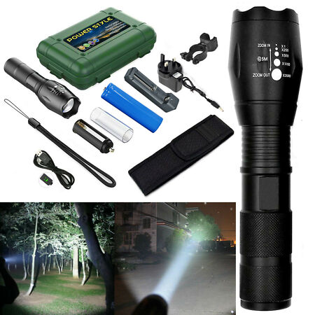 img-XML-L2 LED Flashlight Super Bright Zoomable Tactical Military Grade Torch Lamp