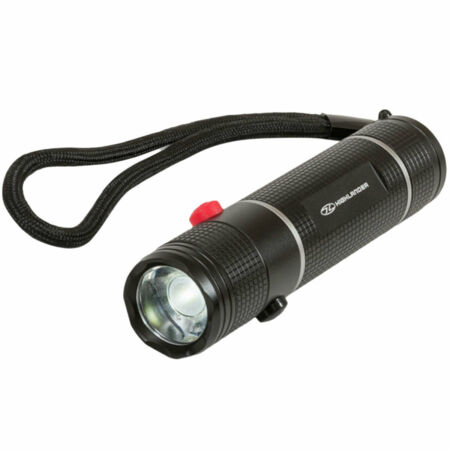 img-Highlander Hawkeye 3w Dual Button White & Red LED Cadet Military Army Hand Torch