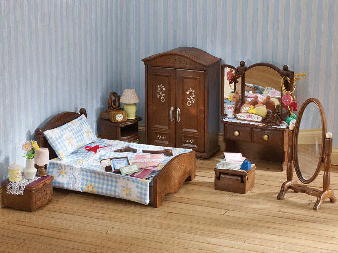 tiere sylvanian families calico critters master bedroom