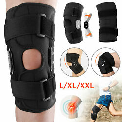 Kyпить Knee Brace Hinged Compression Sleeve Joint Support Open Patella Stabilizer Wrap на еВаy.соm