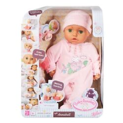 Baby Annabell Doll By Zapf 18'' Makes Sounds 5 Accessories  Ages 3+ Green Eyes