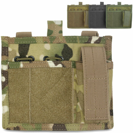 img-Bulldog MOLLE Military Army Tactical Chest Torch Pen Notebook Holder Admin Panel