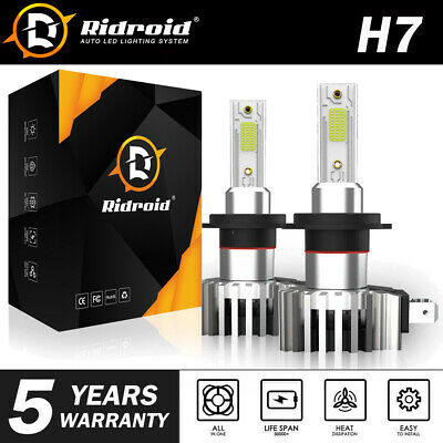 H7 LED Headlight Super Bright Bulbs Kit 2200W 330000LM Hi/Lo Lights White 6000K