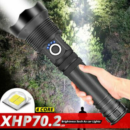 img-90000 Lumens xhp70.2 Most Powerful LED Flashlight Usb Zoomable Torch Light 26650