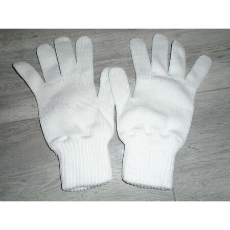 img-WHITE GLOVES MERCERISED COTTON KNITTED SIZE 4 GENUINE BRITISH MILITARY NEW