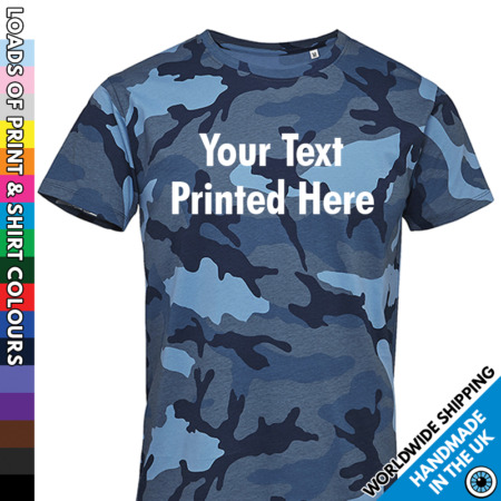 img-Mens Custom Camo T Shirt Tshirt Personalised Printed Text Stag Night Party Gift
