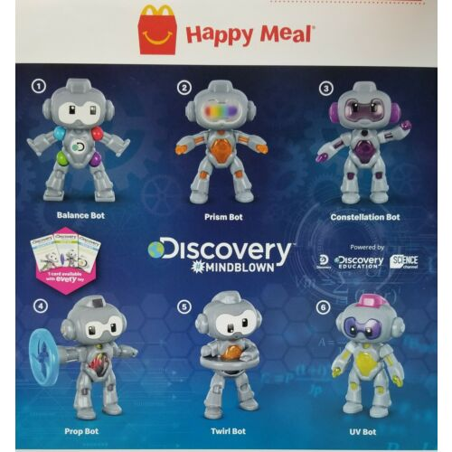 Discovery MINDBLOWN Robots STEM McDonalds Happy Meal Toys #1-6 Complete Sets