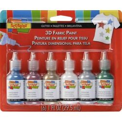Kyпить Scribbles 3D Fabric Paints 1 oz 6/Pk Glitter на еВаy.соm