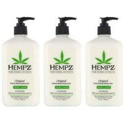 Kyпить LOT of 3 Hempz Organic Hemp Original Herbal Body Moisturizer Lotion - 17 oz на еВаy.соm