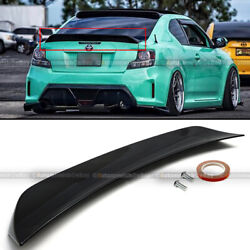 Fit 11- 16 Scion TC RS Style Glossy Painted ABS Plastic Rear Trunk Wing Spoiler