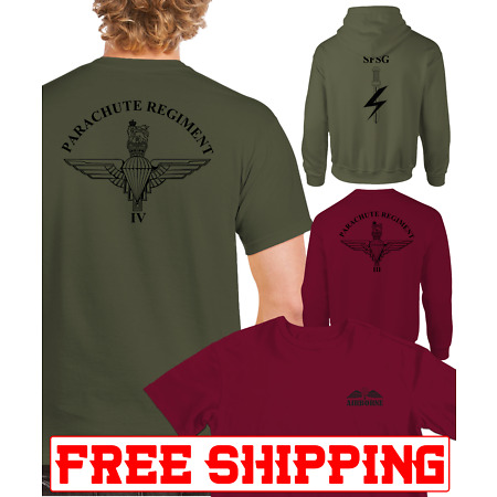 img-Double Print Parachute Regiment T-SHIRT SWEAT HOODIE SFSG AIRBORNE WINGS PARA