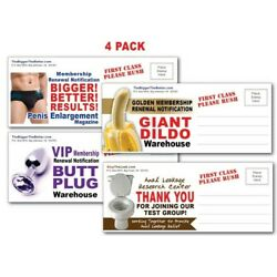 Kyпить 4 PACK - Adult PRANK Mail Postcards - FUNNY Joke Revenge Gag Gift Novelty Funny  на еВаy.соm