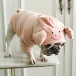 Pug Cute Pig Shape Velvet Funny Costume Pet Dog Clothes for Small Dogs Pets Gift