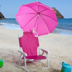 Kyпить WC Redmon Hot Pink Beach Baby Beach Chair with Umbrella Minor Defects  на еВаy.соm
