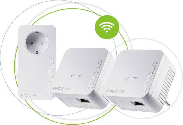 Nürnberg,DeutschlandDevolo Magic 1 WiFi mini  Kit Powerline WLAN Network Kit 100MBit/s