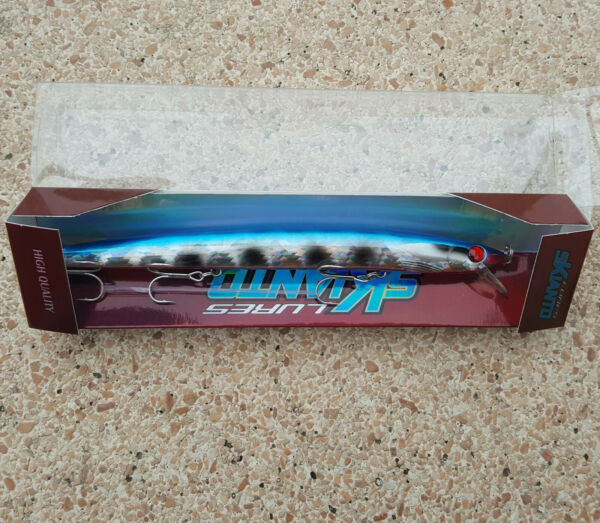 Artificiale Long Jerk Skianto 175 - 25gr Colore SARR,Slow Sinking,Spinning
