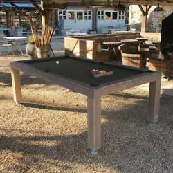 7' OUTDOOR LUXURY CONVERTIBLE DINING POOL TABLE VISION BILLIARDS - FREE SHIPPING