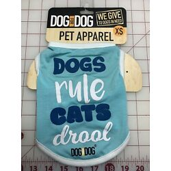 New Pet Clothes Apparel Dogs Rule Cats Drool XS Cute Gift Dog For Dog Brand