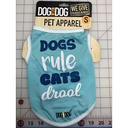 New Pet Clothes Apparel Dogs Rule Cats Drool Small S Cute Gift Dog For Dog Brand