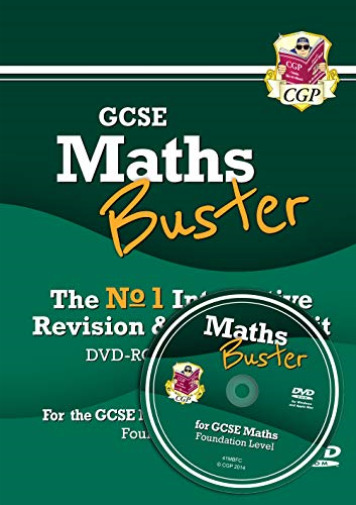 Royaume-UniCgp Books-Mathsbuster: Gcse Maths  Revision (Grade 9-1 Cours DVD NEUF
