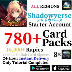 [GLOBAL] [INSTANT] 840+ Card Pack Tickets | Shadowverse CCG Starter Account