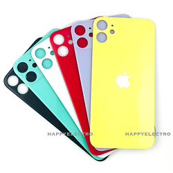 Replacement Glass Rear Back Door Battery Cover Big Hole For iPhone 11 12 Pro Max