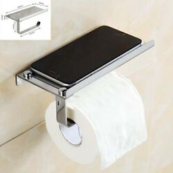 Kyпить Wall Mounted Stainless Steel Toilet Paper Mobile Phone Holder with Shelf на еВаy.соm