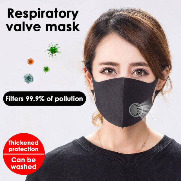 Washable Dustproof Anti Haze Protective Mouth Face Mask with Breather Valve IT-