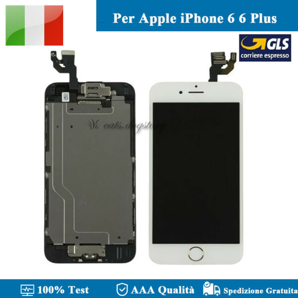 COMPLETO DISPLAY PER IPHONE 6 6 PLUS SCHERMO LCD + FOTOCAMERA ASSEMBLATO