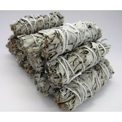 Kyпить 10X Cali White Organic Sage Smudge 4''-5'' Wands House Cleansing Negativity  на еВаy.соm
