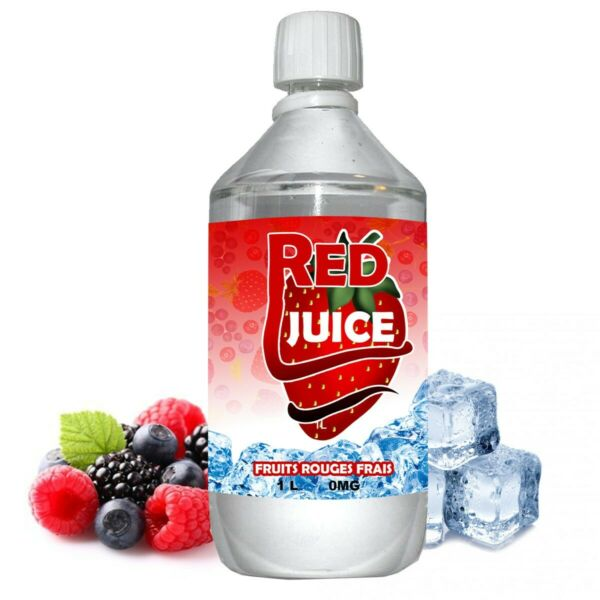 Annay la Côte,FranceE liquide Red Juice - 1 l - 50/50 PG/VG - 1 000 ML - fruits rouges frais