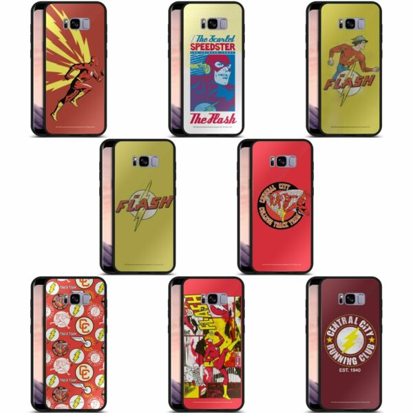 Royaume-UniTHE FLASH DC COMICS FAST FASHION SCHWARZ HÜLLE AUS HYBRID GLASS FÜR SAMSUNG