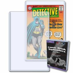 20 New BCW Silver Age Comic Book Topload Holders - Rigid 5mm Plastic Toploaders