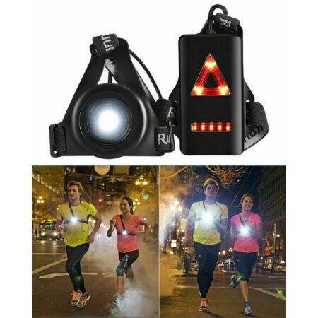 img-USB LED Running Chest Lamps Safety Warning Lights Night Torch Waterproof New