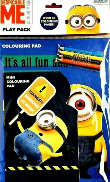 Royaume-UniDispicable Me Play Paquet, ,2 Tampons,4 Crayons Set, 30 Colorier Pages,