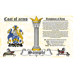 Guesd-Wyest COAT OF ARMS HERALDRY BLAZONRY PRINT