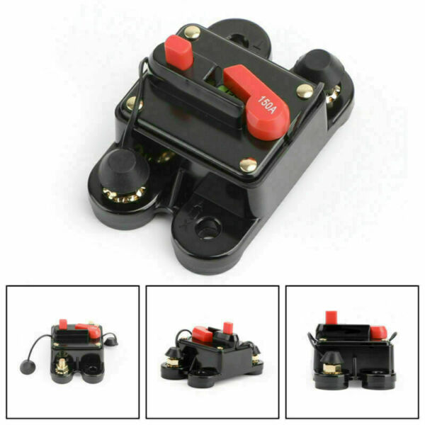 Royaume-Uni150A Circuit Breaker Stereo Blow Replace Reset Fuse Switch Fit Car Audio U3