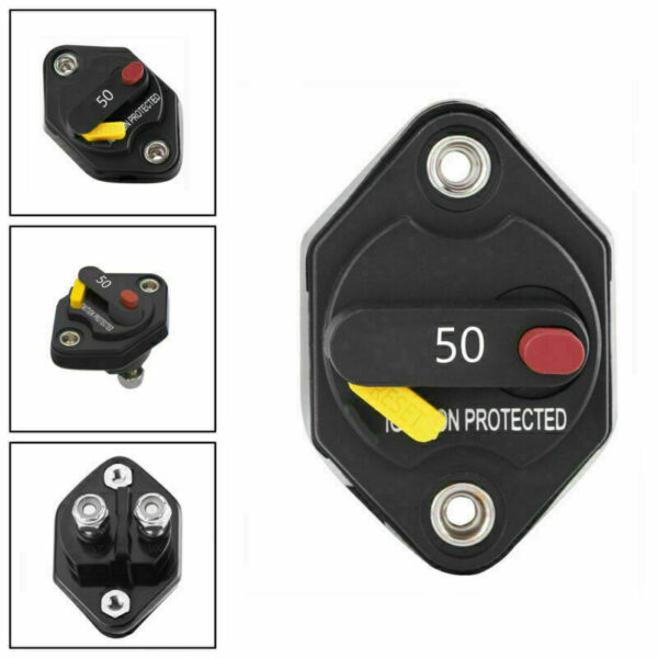 Royaume-Uni50A Circuit Breaker Stereo Blow  Reset Fuse Switch Fits Car Audio Marine U3